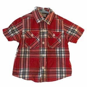 Crazy 8 Plaid Dress shirt 18-24 Months
